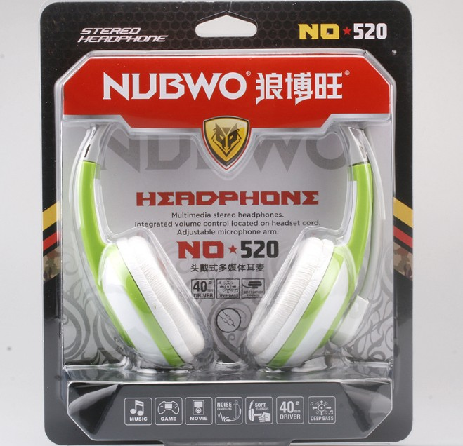 NUBWO Multimedia Stereo Headphone with microphone in stock No 520