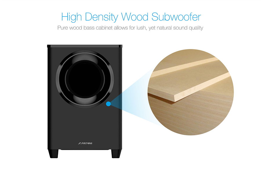 Home Theater Subwoofer >> F&D T388 2.1 TV Sound Bar with Wireless Subwoofer